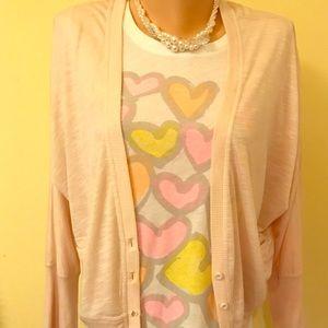 Pink 2PC bundle size large T-shirt & Cardigan